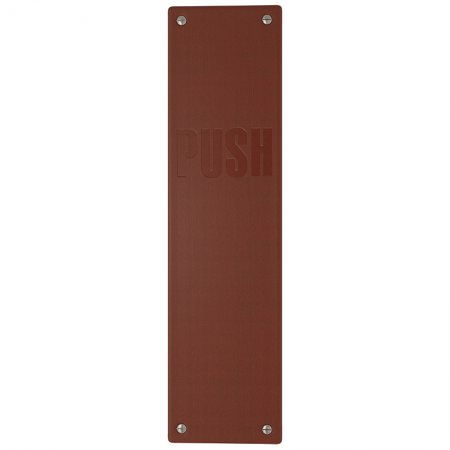 LEATHER PUSH PLATE - EMBOSSED HARDWARE X1288-300-CN