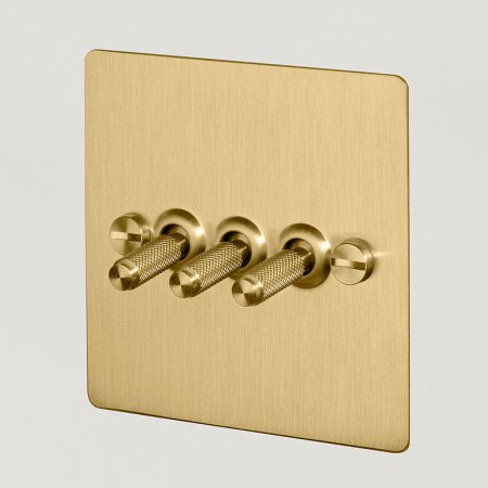 3G TOGGLE SWITCH / BRASS UK-TO-CO-3G-BR-A