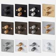 2G DIMMER / BRASS UK-DI-CO-2G-BR-A