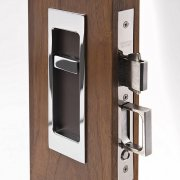 RECTANGLE FLUSH PULL - RELEASE RECESS LEATHER R1955-178-2-BT-SN